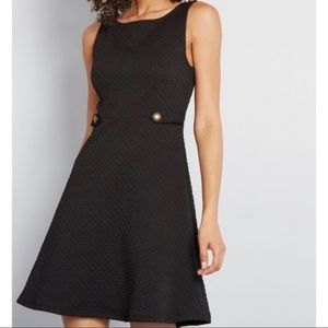 NWT ModCloth Black Sixties Signature A-Line Dress